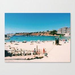 Beach Day in Mallorca Canvas Print