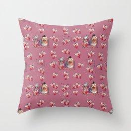My little owl love. Throw Pillow