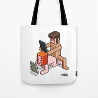 selfie Tote Bags featuring SELFIE by Totto Renna