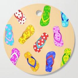 Flip Flops Pattern Cutting Board