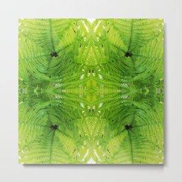 508 - Abstract Fern Design Metal Print