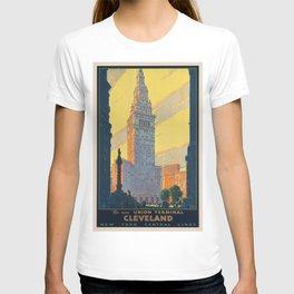Vintage poster - Cleveland T-shirt