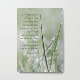 Teresa of Avila Quote Metal Print