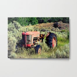 Wanna Take A Ride On My Tractor? Metal Print