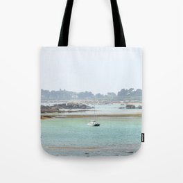 Walking on the shore Tote Bag