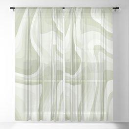 Abstract Wavy Stripes LXXVIII Sheer Curtain