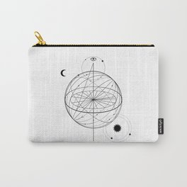Alchemy symbol with eye, moon, sun Carry-All Pouch