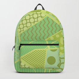 The Unique One (Green Patterned Leaf Patchwork) Backpack