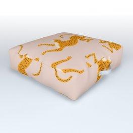 Leopard Race - pink Outdoor Floor Cushion