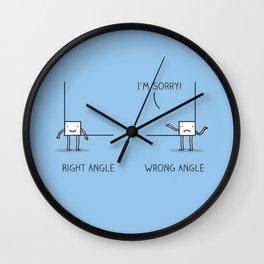 Angles Wall Clock