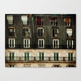 Parisian Windows. Canvas Print