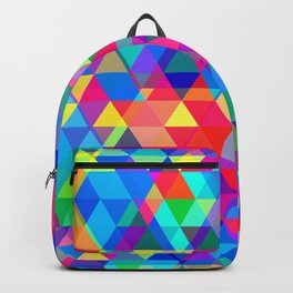 Rad Multi Triangular Geometric Dance of Color Backpack
