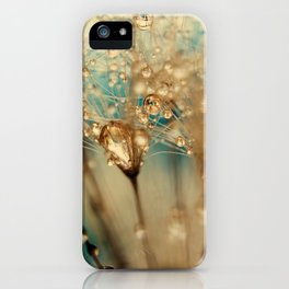 dandelion gold iPhone Case