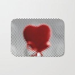 Heart in a cell Bath Mat