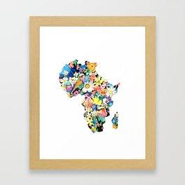 Map of Africa Framed Art Print