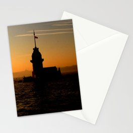 sunset in İstanbul Stationery Cards
