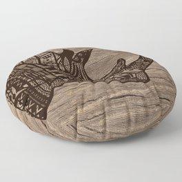 Wood Rhino Black Floor Pillow