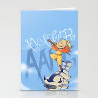 aang Stationery Cards featuring Avatar Aang by LeticiaFigueroa