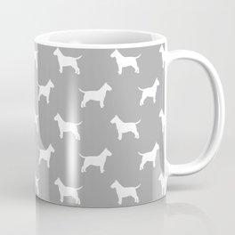 White Bull Terrier Silhouette Coffee Mug