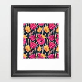 Tulips in the Spring Framed Art Print