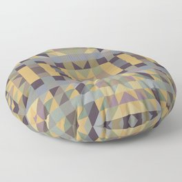 HENDERSON - muted earth tones in geometric prism design Floor Pillow