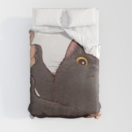 cat : huuh Duvet Cover
