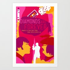 James Bond Golden Era Series :: Diamonds Are Forever Art Print