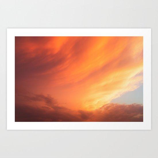 Celestial Fire Clouds Art Print