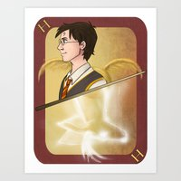harry potter Art Prints featuring Harry Potter by Imaginative Ink