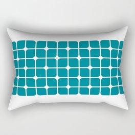 Modern Cubes - Teal Rectangular Pillow