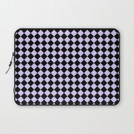 Black and Pale Lavender Violet Diamonds Laptop Sleeve