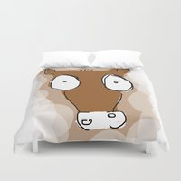 donkey Duvet Covers featuring Donkey by Frances Roughton