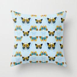 Bird skull pattern Throw Pillow