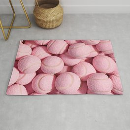 Pink ball pattern Rug