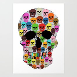 colorfull skull Art Print
