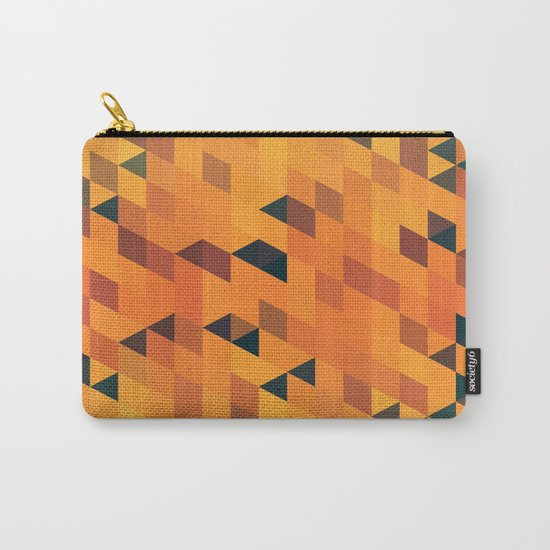 Gold Pattern Carry-All Pouch