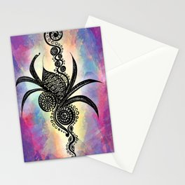 Spiral Feathers Stationery Cards