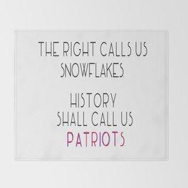 Today's Snowflakes are Tomorrow's Patriots Throw Blanket