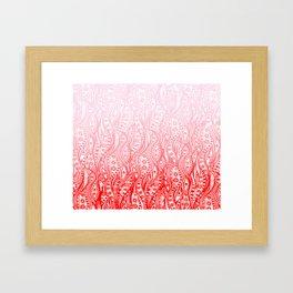 Distorted Dream Print (Pink/Red) Framed Art Print