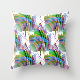 Maple Leaf Abstract Throw Pillow