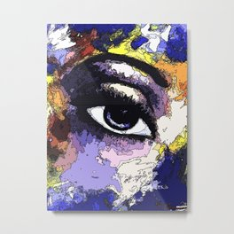 Title: Beautiful Eye - Digital Silk screen Version Metal Print