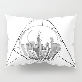 GRAPHIC Geometric. Shape Gray New York in a Bottle Pillow Sham