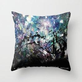 A Skilled Sailor Throw Pillow