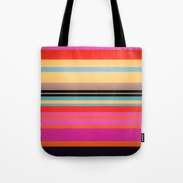 Sunset Stripes Tote Bag