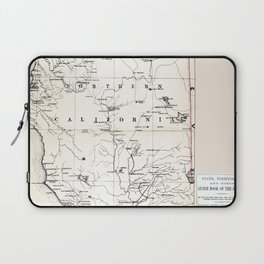 Northern California Map 1866 Laptop Sleeve