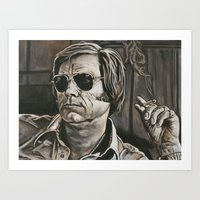 phil jones Art Prints featuring Jones by Buddy Owens Paintings