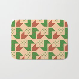 Clover&Nessie Lime/Orange Bath Mat