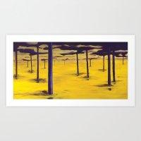 Yellowscape Art Print