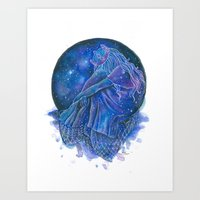A Lonely Star Art Print