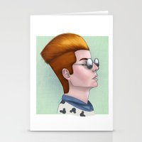 tim shumate Stationery Cards featuring TIM ACID by Greenteaelf